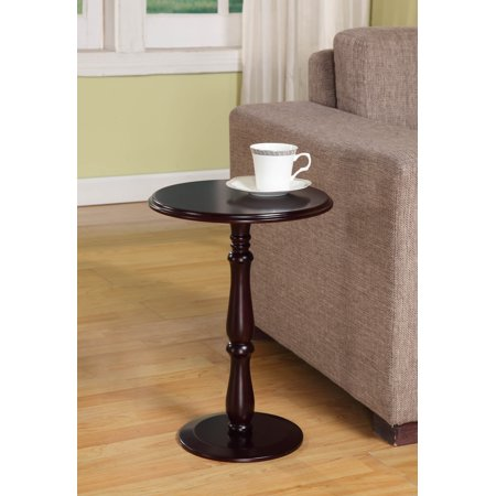 Coco Cherry Wood 14-Inch Round Accent Side Plant Stand Display -