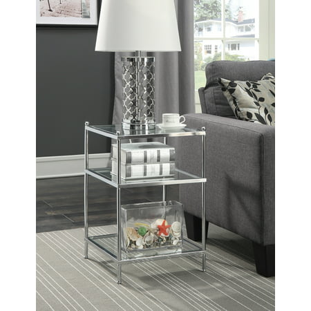 Convenience Concepts No Tools Royal Crest End Table, Multiple Finishes