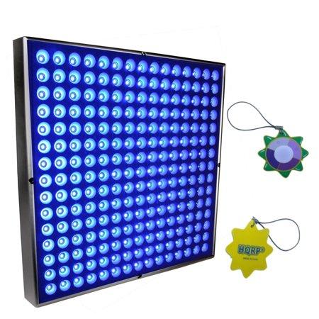 Hqrp High Power 45W Square Blue 225 Led Grow Light Panel   Lamp 12  X 12  Plus Hanging Kit   Hqrp Uv Meter