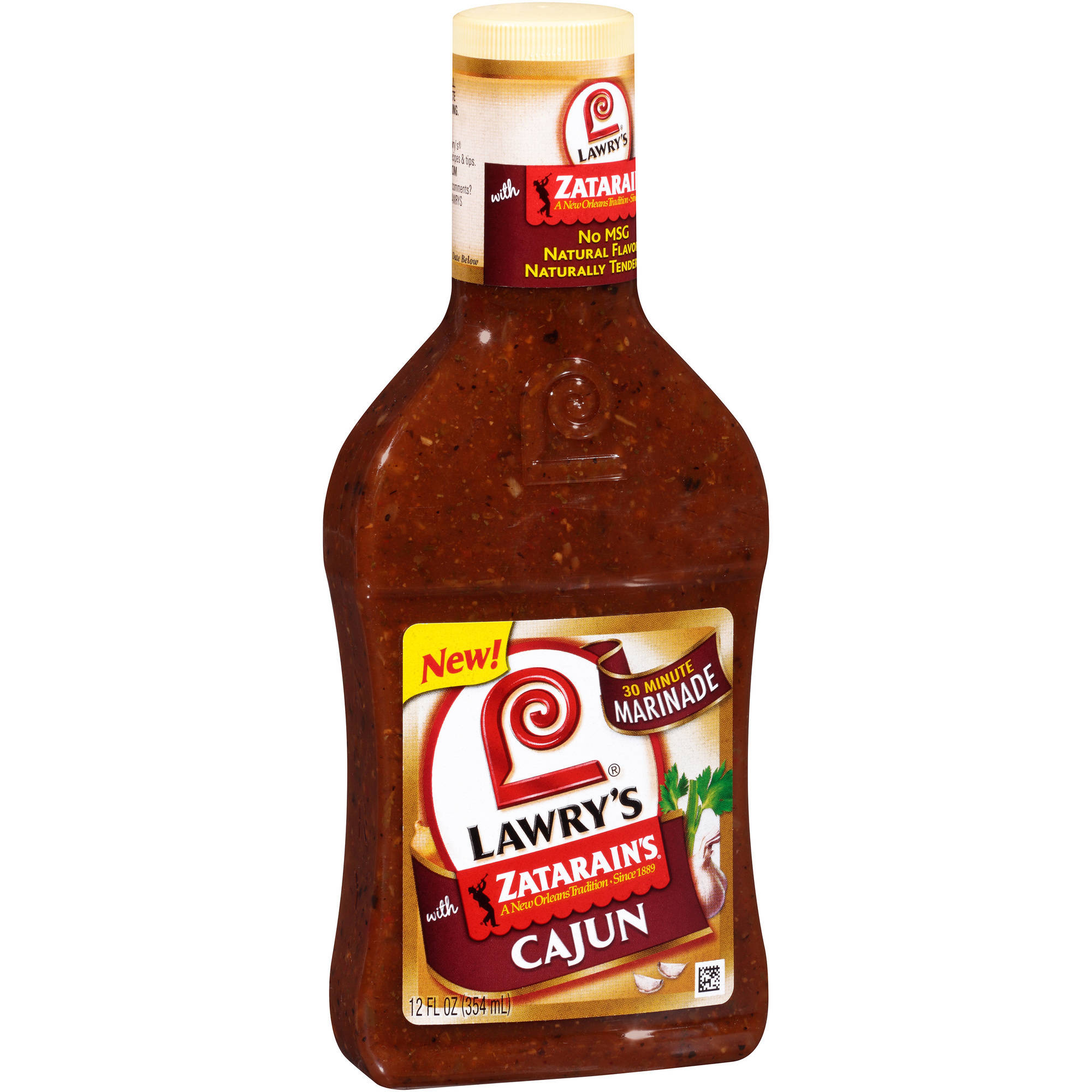 Lawry's Cajun 30 Minute Marinade with Zatarain's, 12 fl oz