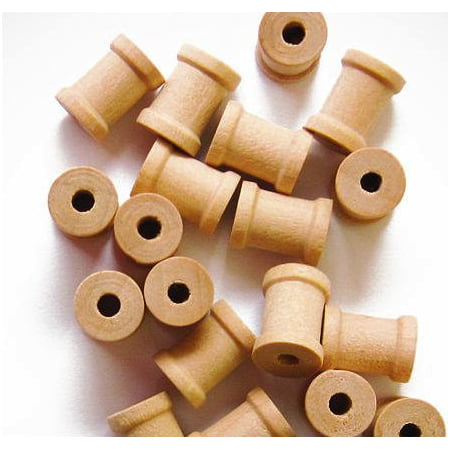 My Craft Supplies Unfinished Wood Spools 1/2 x 3/8 Inches Set of 100 Made in the - Wood Craft Supplies