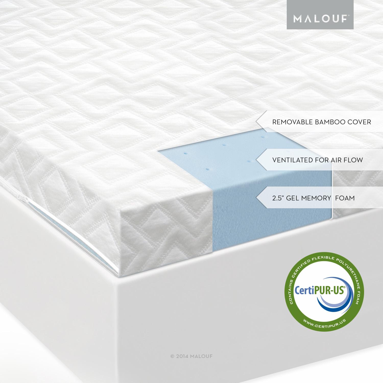 ISOLUS 2 5 Inch Ventilated Gel Memory Foam Mattress Topper