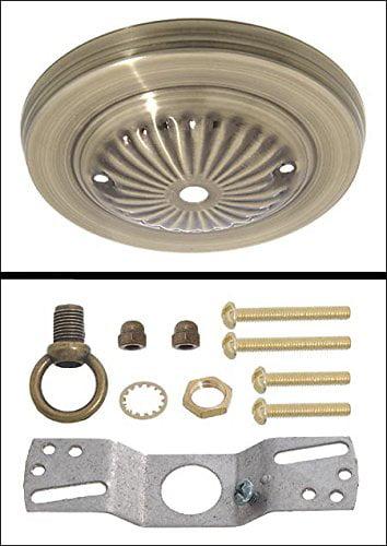 "Antique Brass Finish Steel Canopy Kit, 5"" Dia., Antique Brass Finish Steel Canopy Kit By B&P Lamp by"