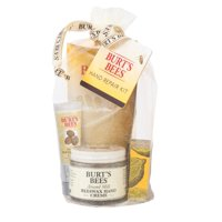 Burt's Bees Hand Repair Gift Set, 3 Hand Creams Plus Gloves - Almond Milk Hand Cream, Lemon Butter Cuticle Cream, Shea Butter Hand Repair Cream