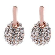 Jocestyle Fashion Women Rhinestone Geometric Ear Stud Creative Earrings Jewelry Gift