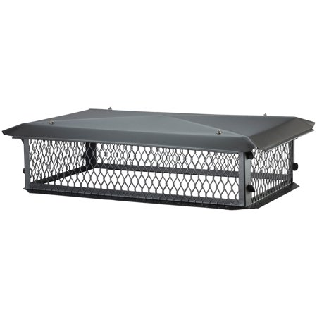 HY-C Big Top Multi-Flue Black Galvanized Chimney Cap
