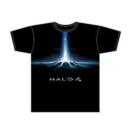 Halo 4 : Portal & Logo Black S/S Men's T-shirt (588) (Large)
