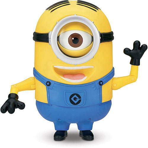 Despicable Me 2 Minion Stuart Laughing Action Figure by Thinkway Toys