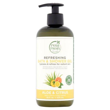(2 pack) Petal Fresh Pure Aloe & Citrus Refreshing Bath & Shower Gel, 16 fl oz Antioxidant Citrus Body Wash