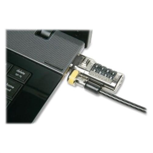 Skilcraft Desktop Equipment Locking Kit, w/2 Keys, Cable, Gray 5987495