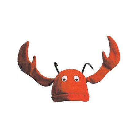 Velvet Lobster Hat With Flapping Claws (Lobster Hat)