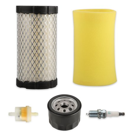 EEEKit Filter Tune Up Kit Fit for Craftsman YT3000 YS4500 LT2000 Lawn Tractor,1x Air Filter (with pre-filter); 1x Fuel Filter; 2x Clamps; 1x Spark Plug; 1X Oil