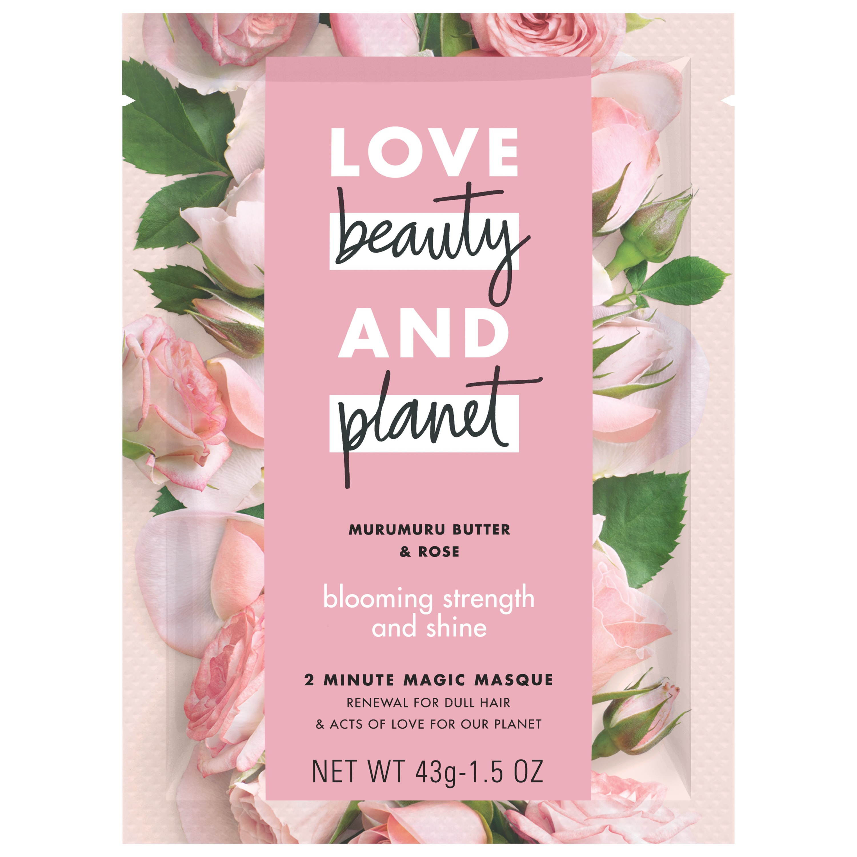 Love Beauty And Planet Murumuru Butter & Rose Hair Mask Blooming Strength & Shine 1.5 oz
