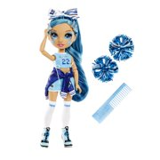 Rainbow High Cheer Skyler Bradshaw – Blue Fashion Doll with Pom Poms, Cheerleader Doll, Toys for Kids 6-12 Years Old