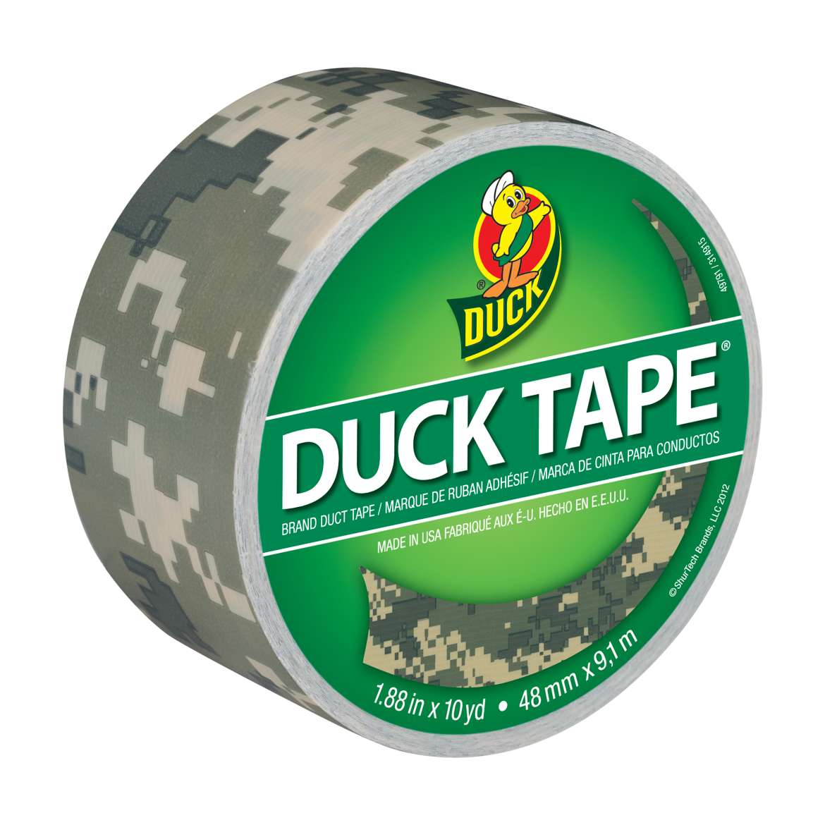 Duck Brand Duct Tape, 1.88 in. x 10 yds., Digital Camouflage