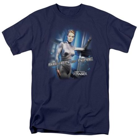 Star Trek-Seven Of Nine - Short Sleeve Adult 18-1 Tee - Navy, Large - image 1 de 1