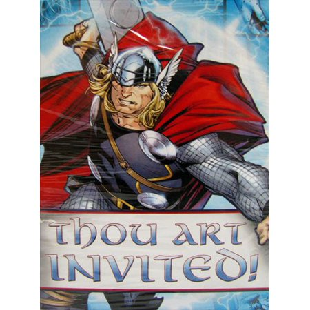 Thor Invitations w/ Env. (8ct)