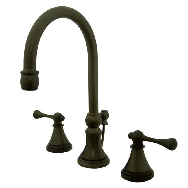 Kingston Brass KS2985BL Widespread Lavatory Faucet with Brass Pop-Up Metal Handle, Oil Rubbed Bronze - image 1 de 1