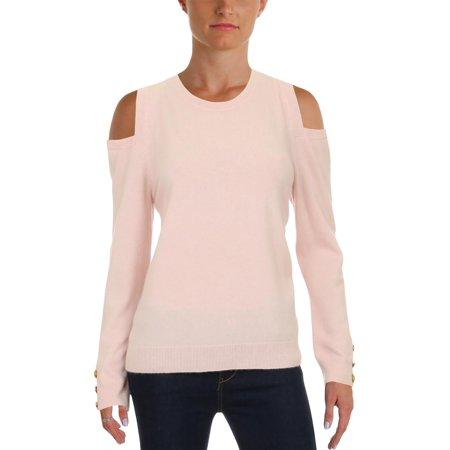 Lauren Ralph Lauren Womens Lissie Cashmere Cold-Shoulder Crewneck Sweater