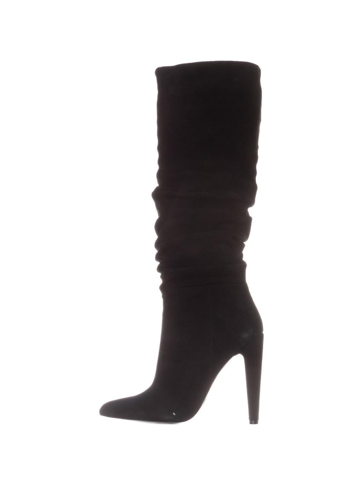 6262fae287c steve-madden - steve madden carrie high heel boot - black suede -  Walmart.com