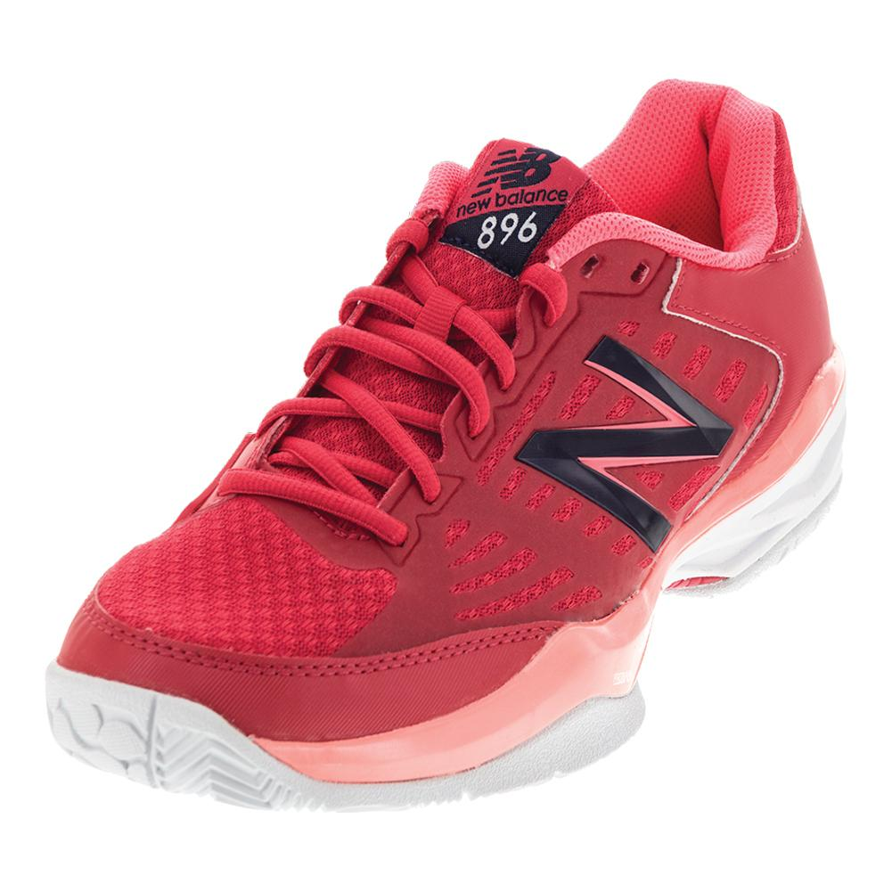 Women`s 896v1 B Width Tennis Shoes Bright Cherry and Guava