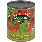 Muir Glen Peeled Tomatoes with Basil, 28 oz (Pack of 6)