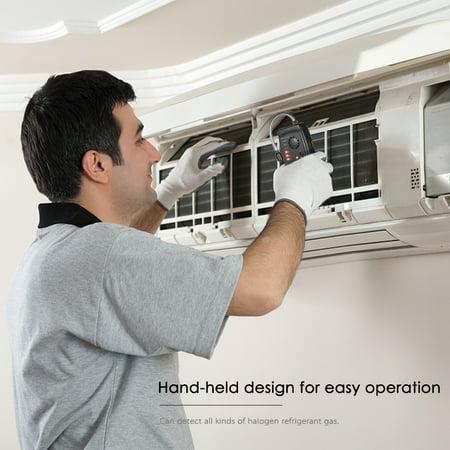 SMART SENSOR Hand-held CFCs HCFCs HFCs Halogen Gas Detector Refrigerant Air Conditioning Detector Freon Gas Leak Tester