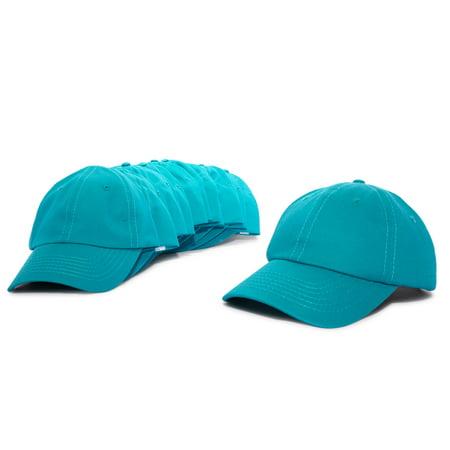 8df11e24415f2 DALIX Baseball Cap Mens Trucker Hat Dad Hats Caps for Women 12 PACK in Teal  - Walmart.com