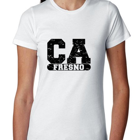 Fresno, California CA Classic City State Sign Women