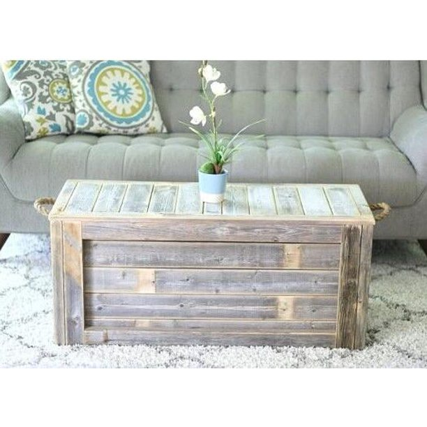 Trunk Coffee Table With Rope Handles