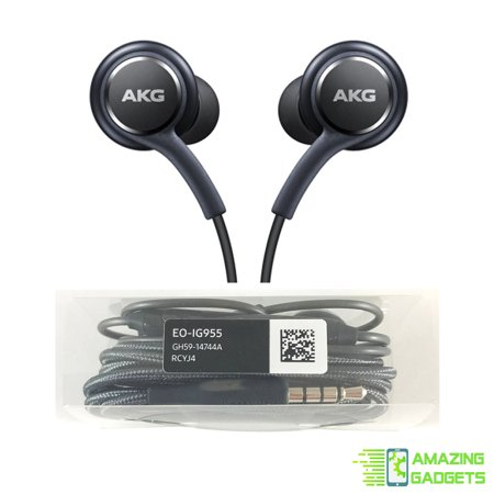 OEM Stereo Headphones w/Microphone for Samsung Galaxy S8 S9 S8 Plus S9 Plus Note 8 - Designed by AKG