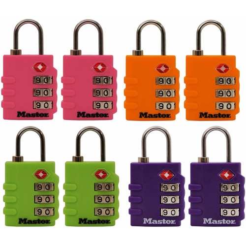 Master Lock 4684T Assorted Colors Luggage Locks, 2pk