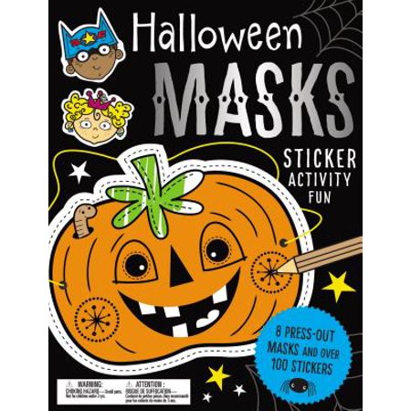 Sticker Activity Books Halloween Masks Sticker Activity Fun - Restaurant Halloween Ideas