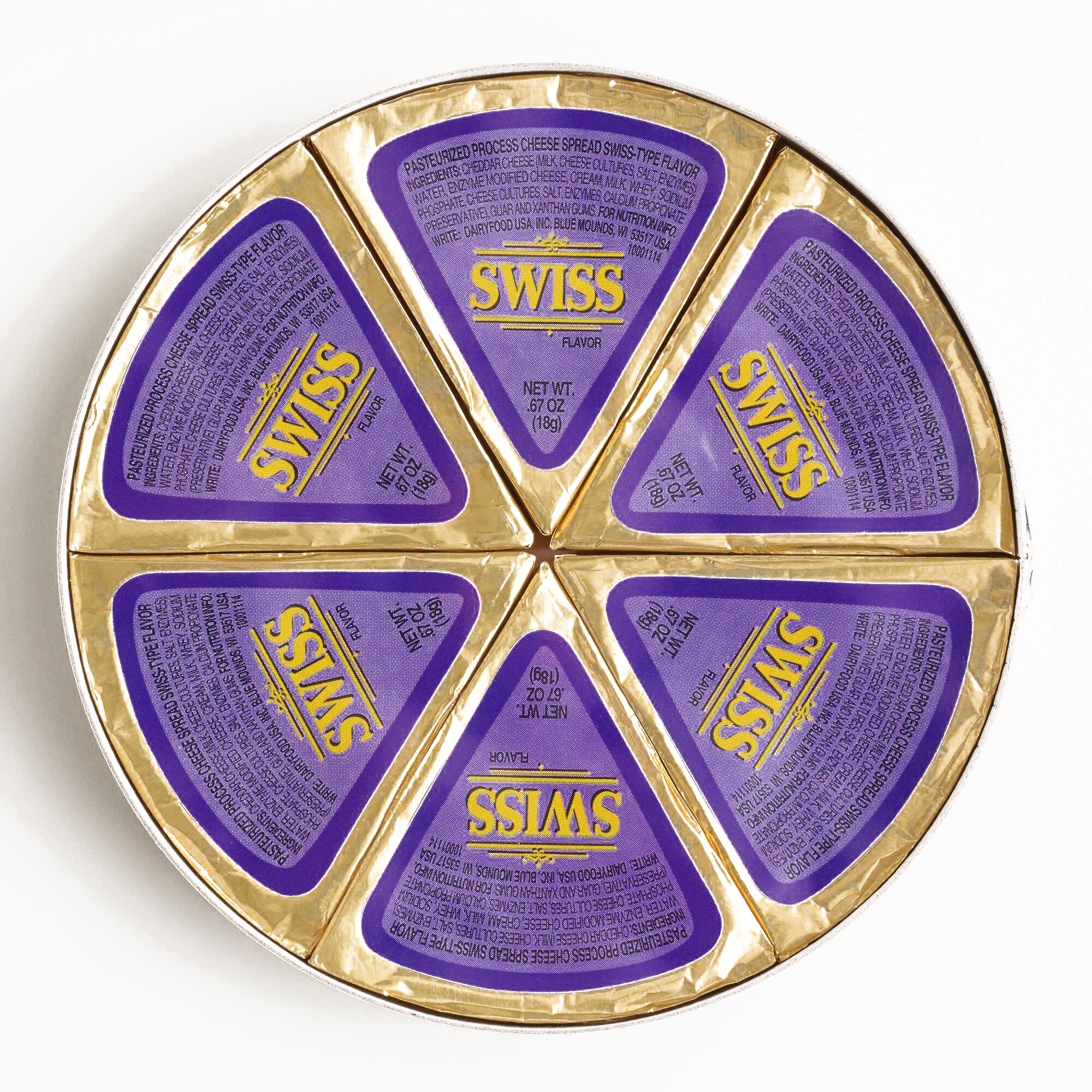 Lactoprot Swiss Cheese Wheel 	4 oz each (6 Items Per Order, not per case)