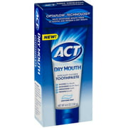 Act Dry Mouth Anticavity Fluoride Toothpaste, 4.6 oz (Pack of 3)
