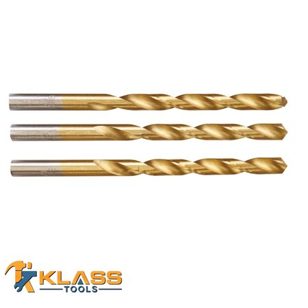 1/4 in. Titanium High Speed Steel Drill Bit Set Pack of 3 Units
