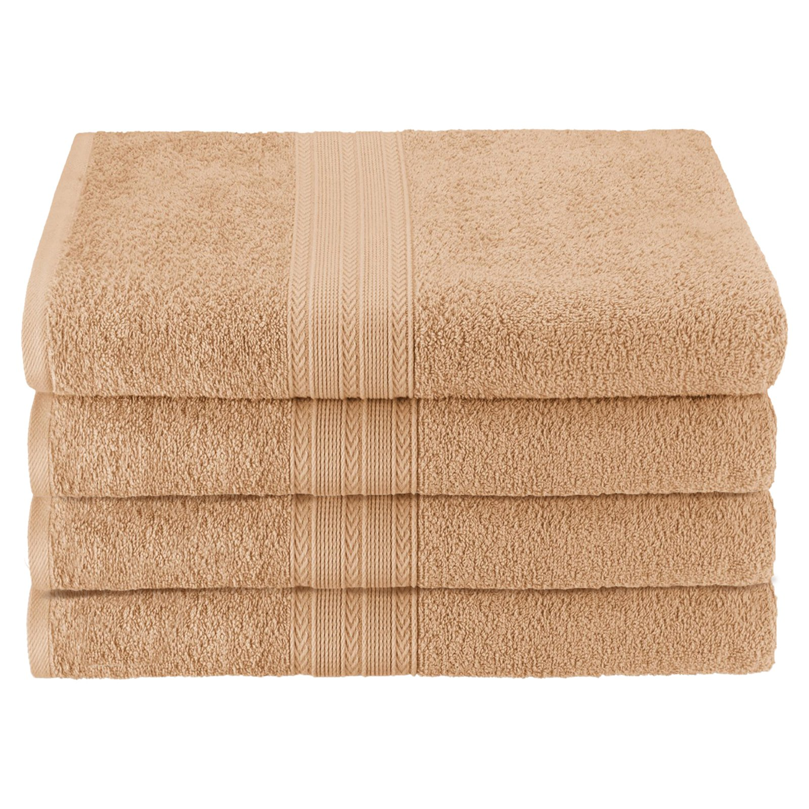 Superior Eco-Friendly 100% Ringspun Cotton 4Pc Bath Towel Set by Supplier Generic