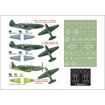 Montex Super Mask 1:48 MiG 3 Early for Trumpeter Kit Spraying Stencil - Trumpeter Mig 3