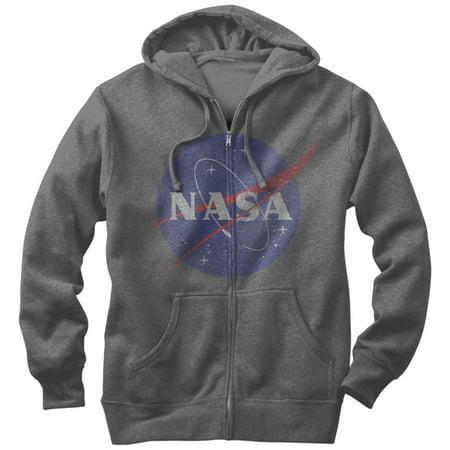 NASA Men's - Logo Zip Up (Logo Zip Hoodie Sweatshirt)