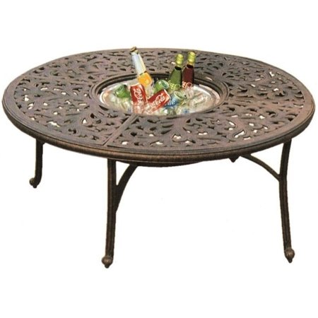Darlee Series 80 52 Round Patio Dining Table In Antique Bronze