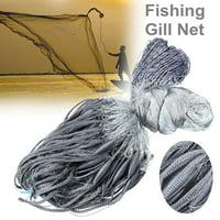 30x1.8m Nylon Fishing Gill Net Hand Fish 4x4cm Mesh Hole Fishermen Tackle Trap