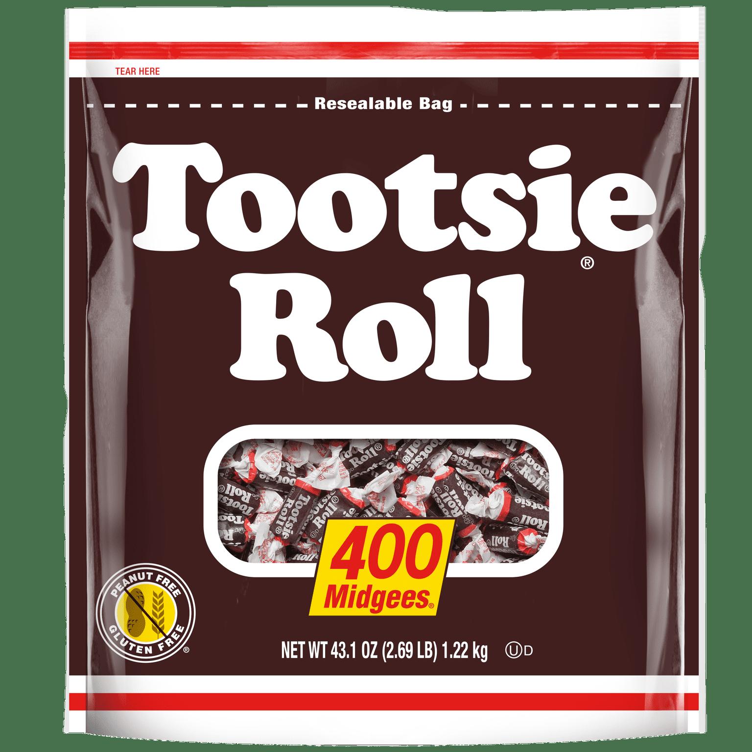 Tootsie Roll Midgees Candy, 2.7 Lb, 400 Ct