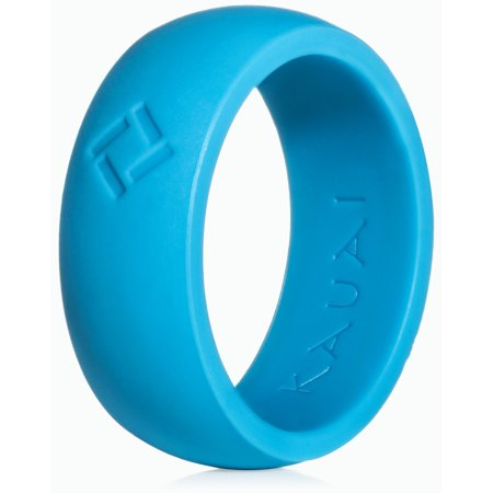 kauai -silicone rings elegant, comfortable, engagement wedding marriage bands for men, non conductive rubber, metal free ring, jewelry, sports, gym, work, military, police, medical grade silicone Mens Rubber Band