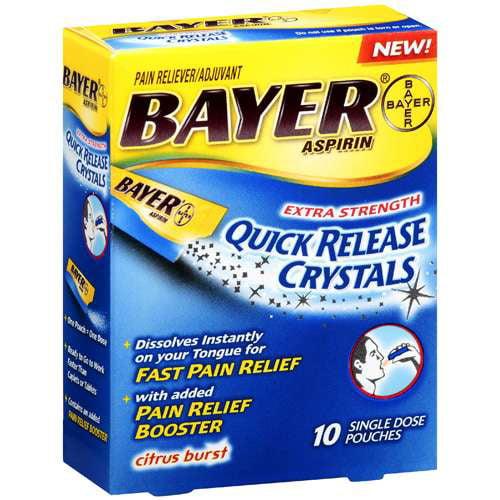 Bayer Aspirin Quick Release Crystals 10s