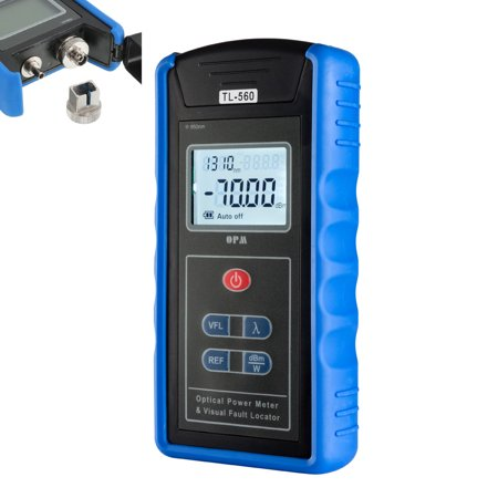 5km -70 ~ +10 dBm Portable Optical Power Meter Visual Fault Locator Fiber Blue