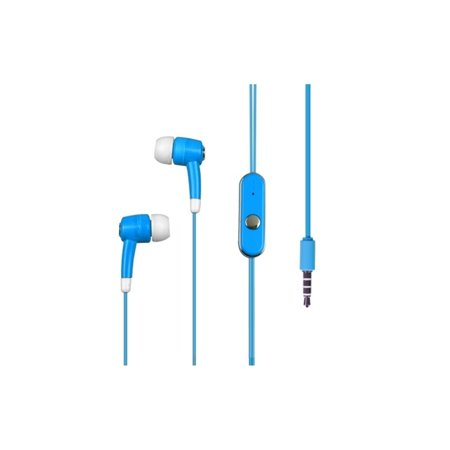 Earphones for iPhone Earbuds with Microphone by MyBat Sky Blue In-Ear Earbuds 3.5mm Headset with Mic for Smartphone Hands-free Cell Phone Tablet MP3 iPhone SE 6 6s 5s iPad Pro Air Mini iPod