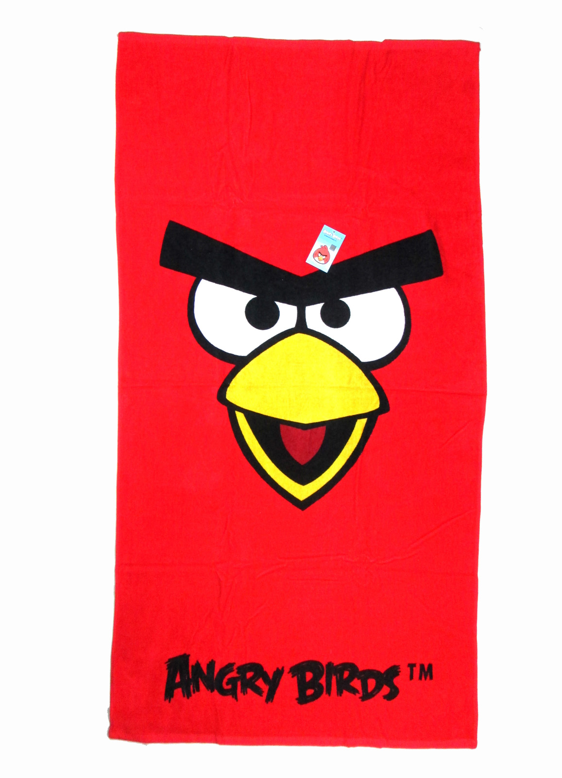 Red Face Red Angry Birdbath and Beach Towel for Kids by