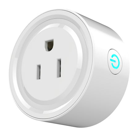Portable Intelligent Automatic Mini Socket Wifi Plug Wi-Fi Enabled App Remote Control Wireless Timer with ON/OFF Switch for Light Electrical Appliance for Compatible (Best Meditation Timer App)