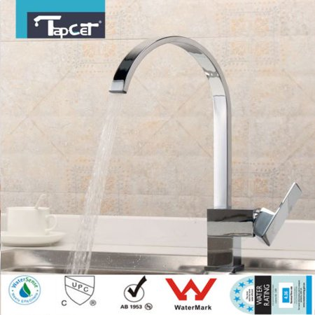 TAPCET Kitchen Faucet Chrome Basin Sink rotate Spout Single swivelspout Handle Mixer Tap New