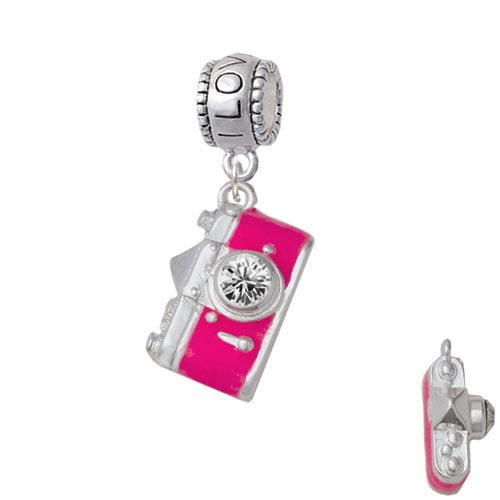 Pink Camera - I Love You Charm Bead